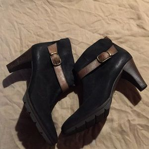 Paul Green Leather Booties Never Used